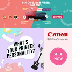 Canon offers in the Canon catalogue ( 11 days left)