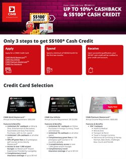 Banks offers in the CIMB Bank catalogue ( 1 day ago )