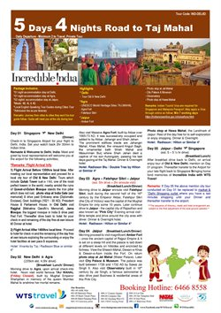 Offers from WTS Travel in the Singapore leaflet