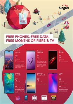 Offers from Singtel in the Singapore leaflet