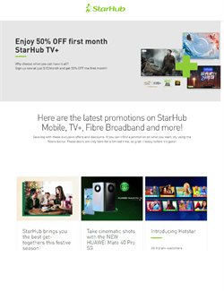 StarHub catalogue ( 15 days left )