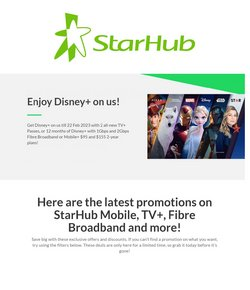 StarHub catalogue ( Expired )