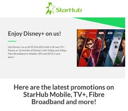 StarHub catalogue ( 13 days left )