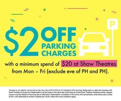 Offers from Shaw Theatres in the Singapore leaflet