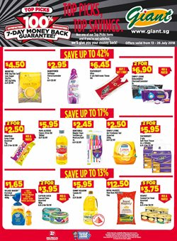 Supermarkets offers in the Giant catalogue in Singapore