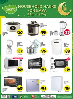 Supermarkets offers in the Giant catalogue ( More than a month )