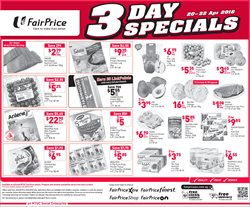 Supermarkets offers in the FairPrice Xtra catalogue in Singapore