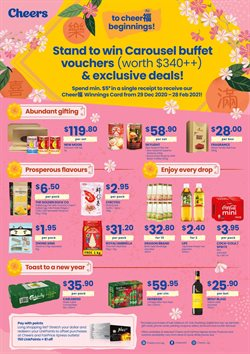 New Year offers in the Cheers catalogue ( Expires tomorrow)
