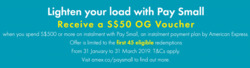 Offers from OG in the Singapore leaflet