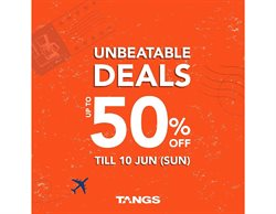 Offers from Tangs in the Singapore leaflet