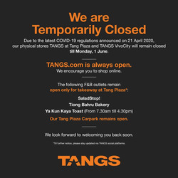 Tangs coupon ( Expires Today )