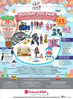 Offers from Takashimaya in the Singapore leaflet