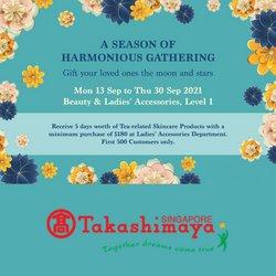 Takashimaya offers in the Takashimaya catalogue ( 10 days left)