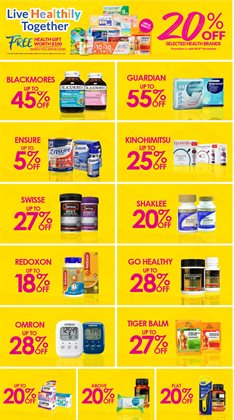 Offers from Guardian in the Singapore leaflet