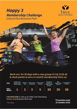 Offers from True Fitness in the Singapore leaflet