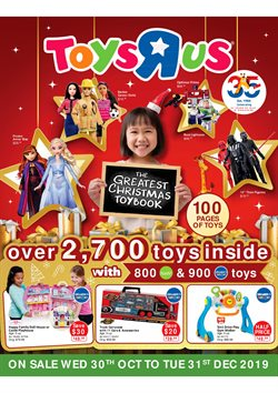 Offers from Toys R Us in the Singapore leaflet