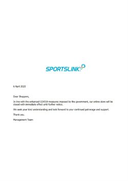 Sportslink catalogue ( Expired )