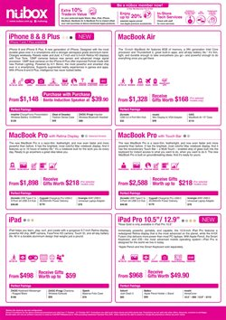 Electronics & Appliances offers in the Nubox catalogue in Singapore
