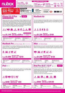 Offers from Nubox in the Singapore leaflet