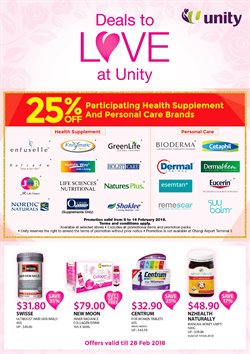Offers from Unity Healthcare in the Singapore leaflet