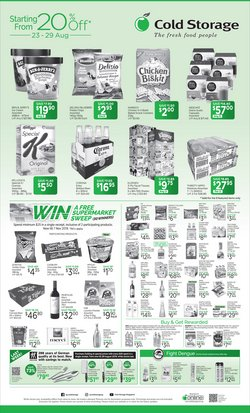 Offers from Cold Storage in the Singapore leaflet