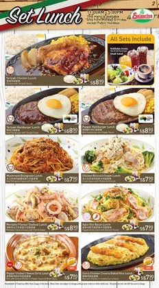 Restaurants offers in the Saizeriya catalogue ( More than a month )