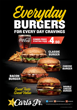 Offers from Carl's Jr. in the Singapore leaflet