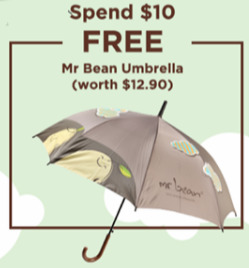 Offers from Mr Bean in the Singapore leaflet