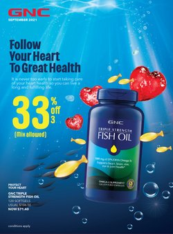Beauty & Health offers in the GNC catalogue ( 10 days left)