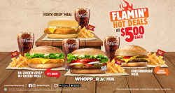 Offers from Burger King in the Singapore leaflet