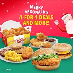 Offers from McDonald's in the Singapore leaflet