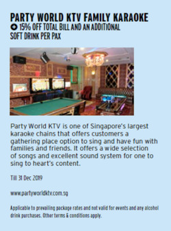 Offers from Party World KTV in the Singapore leaflet