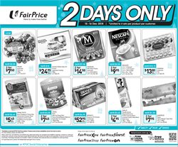 Supermarkets offers in the FairPrice catalogue in Singapore