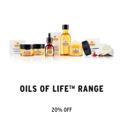 Offers from The Body Shop in the Singapore leaflet
