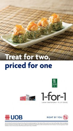 Restaurants offers in the Sushi Tei catalogue ( More than a month)
