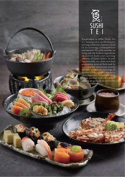Restaurants offers in the Sushi Tei catalogue ( 4 days left)