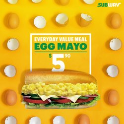Restaurants offers in the Subway catalogue ( 10 days left)