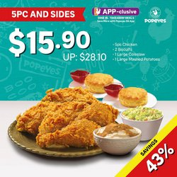 Popeyes offers in the Popeyes catalogue ( 10 days left)