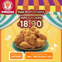 Restaurants offers in the Popeyes catalogue ( Expires Today)