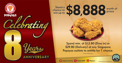 Offers from Popeyes in the Singapore leaflet