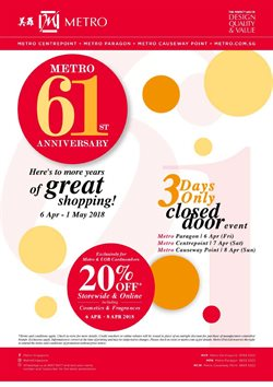 Offers from Metro in the Singapore leaflet