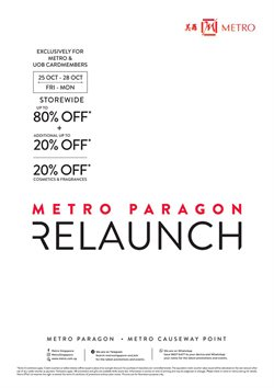 Department Stores offers in the Metro catalogue in Singapore
