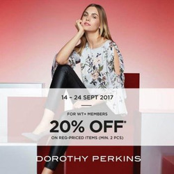 Offers from Dorothy Perkins in the Singapore leaflet