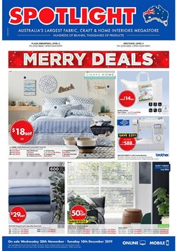 Offers from Spotlight in the Singapore leaflet