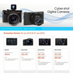 Offers from Sony in the Singapore leaflet