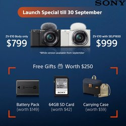 Electronics & Appliances offers in the Sony catalogue ( 10 days left)