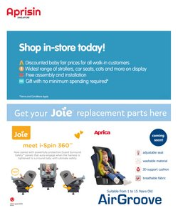Kids, Toys & Babies offers in the Aprica catalogue ( Expires Today )