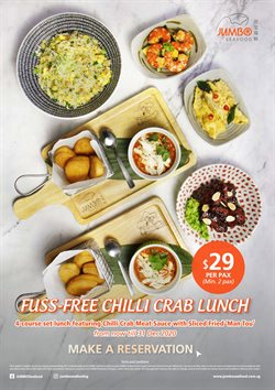 Restaurants offers in the JUMBO Seafood catalogue in Singapore ( 27 days left )