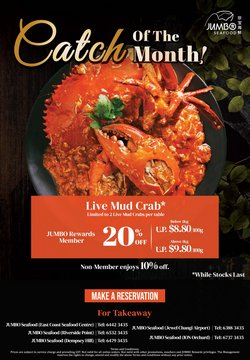 Restaurants offers in the JUMBO Seafood catalogue ( 10 days left)