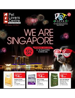 Travel & Leisure offers in the Pet Lovers Centre catalogue in Singapore